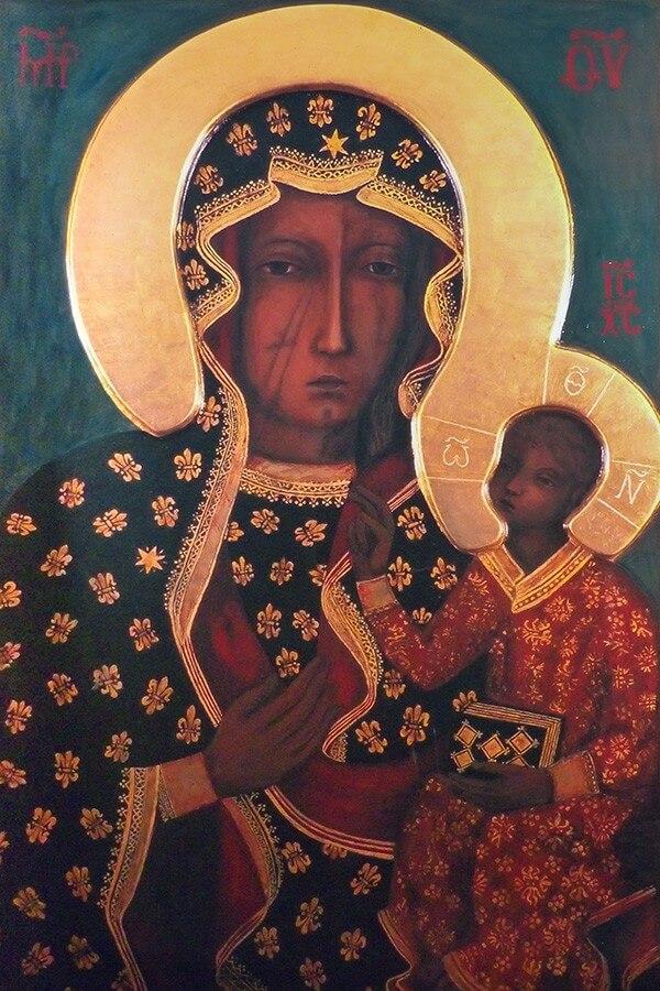Fototapeta Matka Boska Częstochowska - Czarna Madonna - obraz na płótnie
